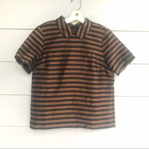 Madewell Stripe Blouse Top S